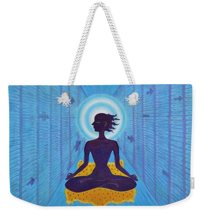 Transcendental Weekender Tote Bag featuring the painting Transcendental Meditation by Usha Shantharam