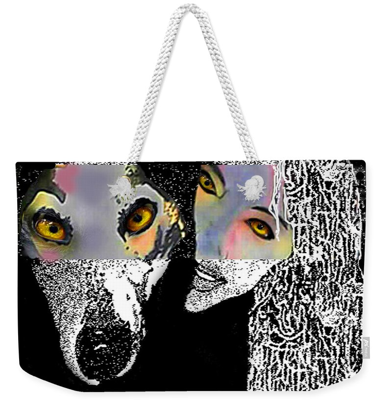 Transformation Weekender Tote Bag featuring the digital art Transformation by Larry Rice