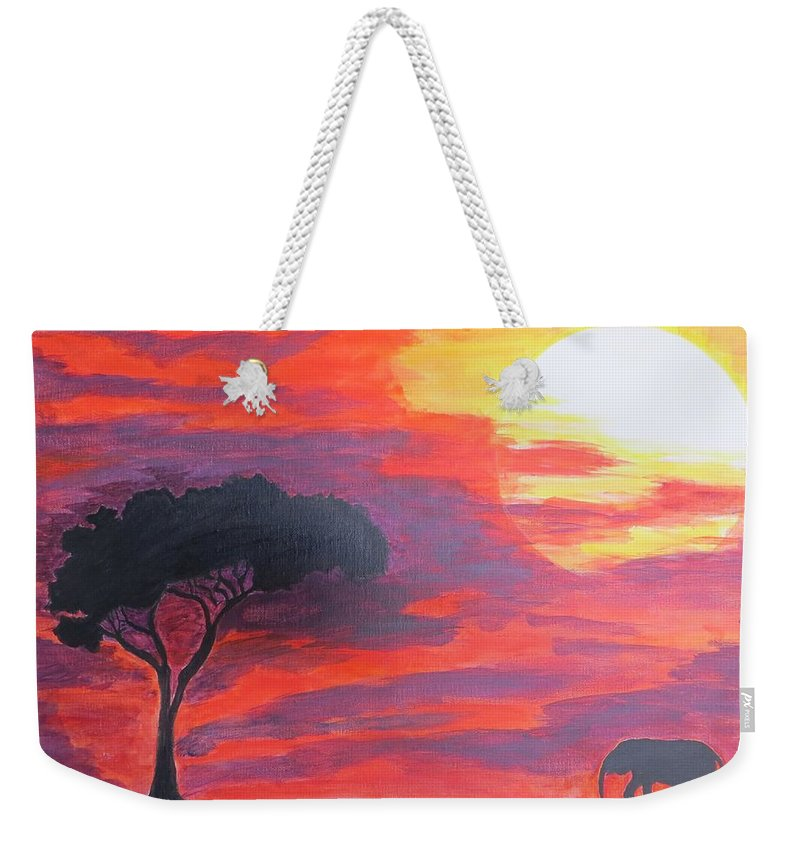 Arrival Of New Phase Weekender Tote Bag featuring the painting Transition by Sonali Gangane