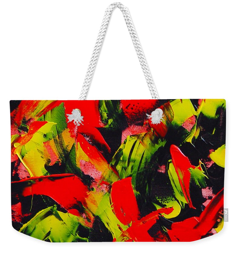 Abstract Weekender Tote Bag featuring the painting Transitions IIi by Dean Triolo