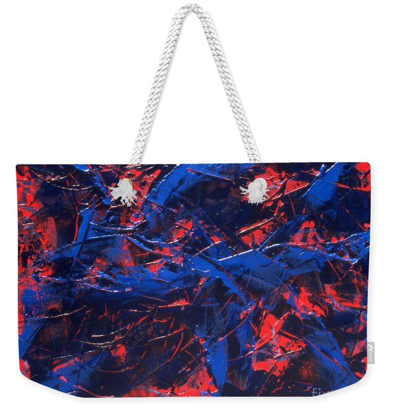 Abstract Weekender Tote Bag featuring the painting Transitions Iv by Dean Triolo