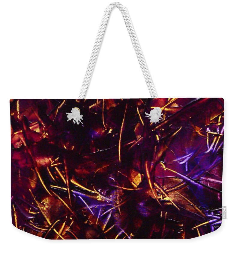 Abstract Weekender Tote Bag featuring the painting Transitions X by Dean Triolo