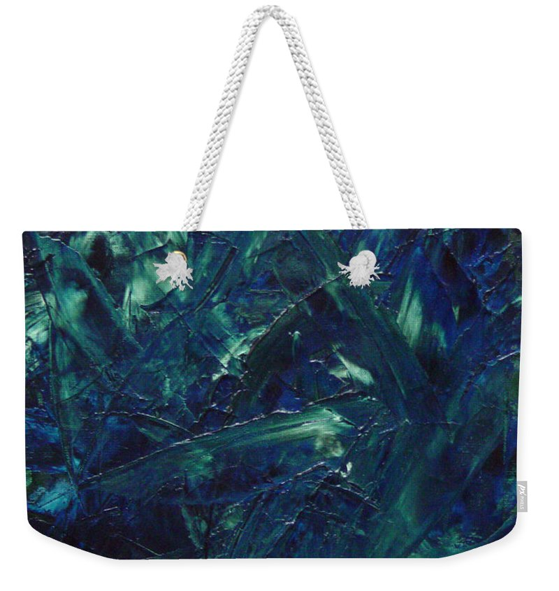 Abstract Weekender Tote Bag featuring the painting Transtions Xi by Dean Triolo