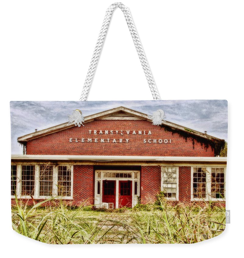 School Weekender Tote Bag featuring the photograph Transylvania Elementary by Scott Pellegrin