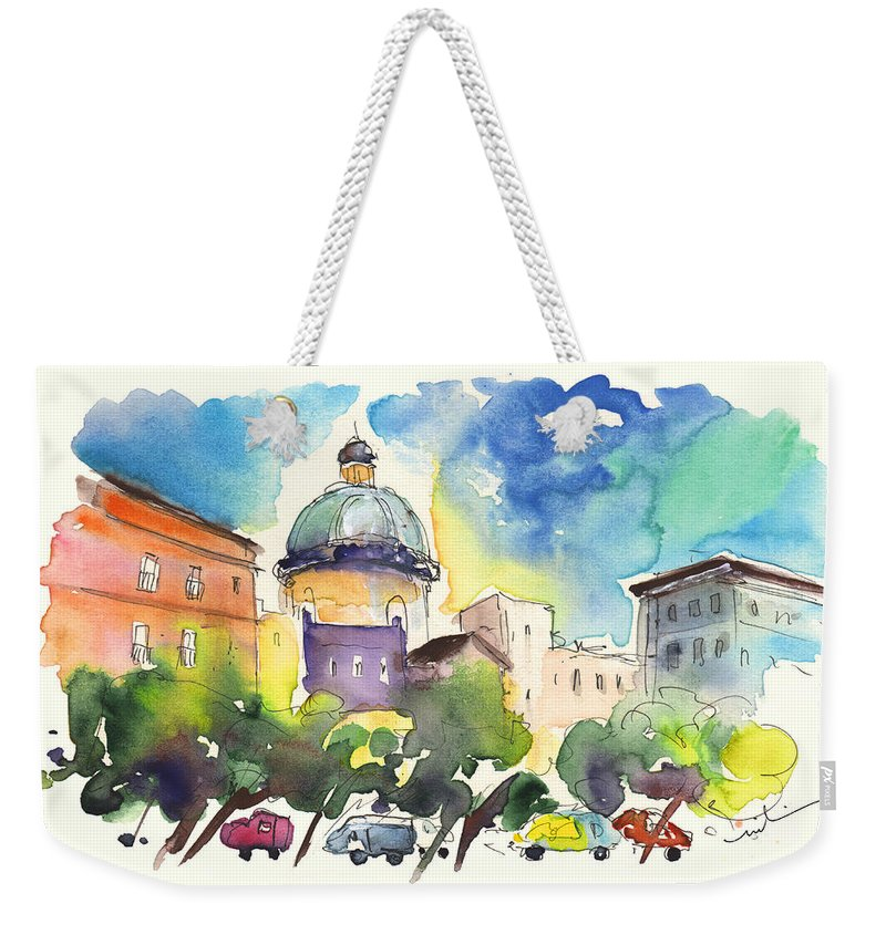 Travel Weekender Tote Bag featuring the painting Trapani 02 by Miki De Goodaboom