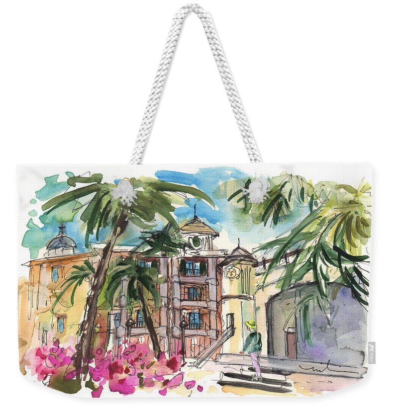Travel Weekender Tote Bag featuring the painting Trapani 05 by Miki De Goodaboom
