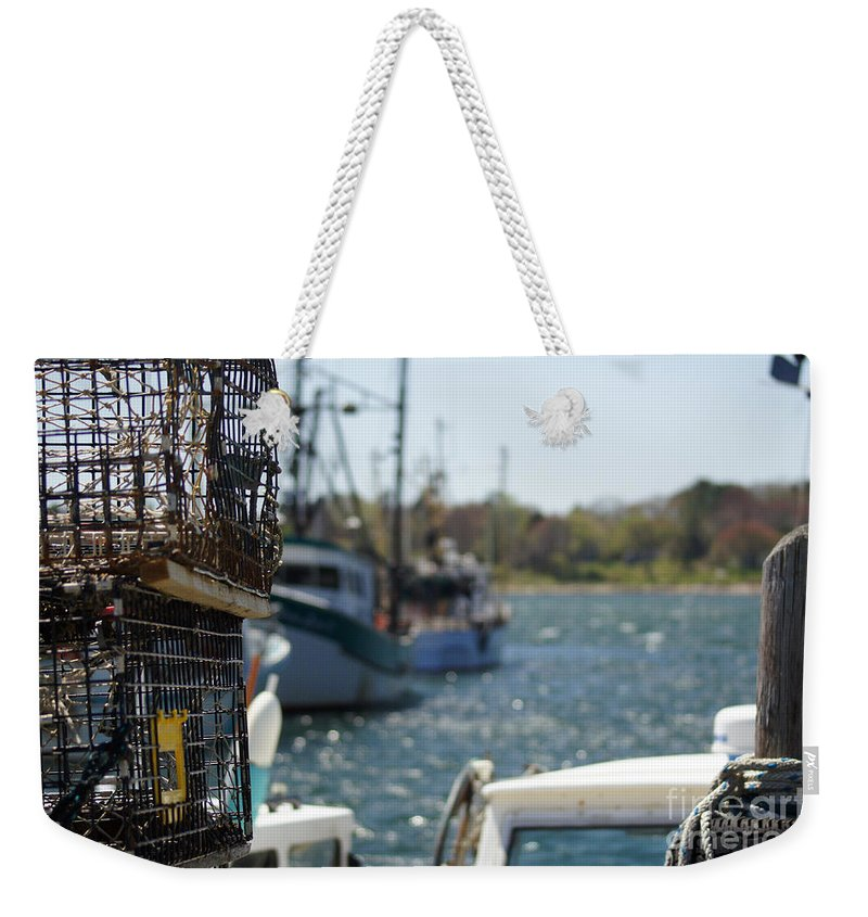 Lobster Weekender Tote Bag featuring the photograph Trappist by Joe Geraci