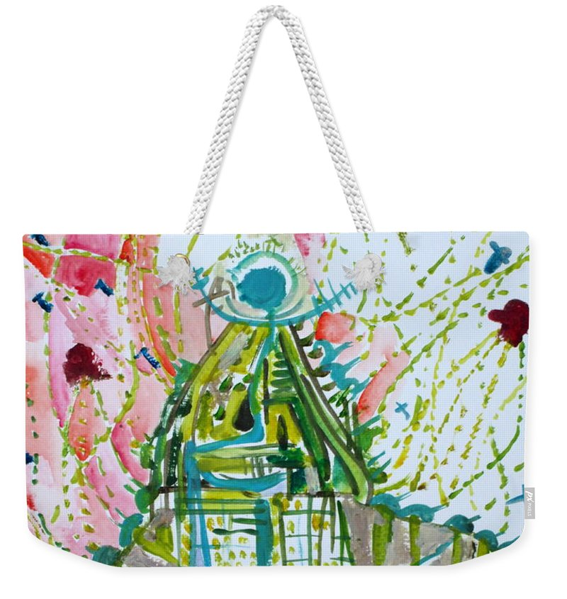 Volcano Weekender Tote Bag featuring the painting Trauma by Fabrizio Cassetta