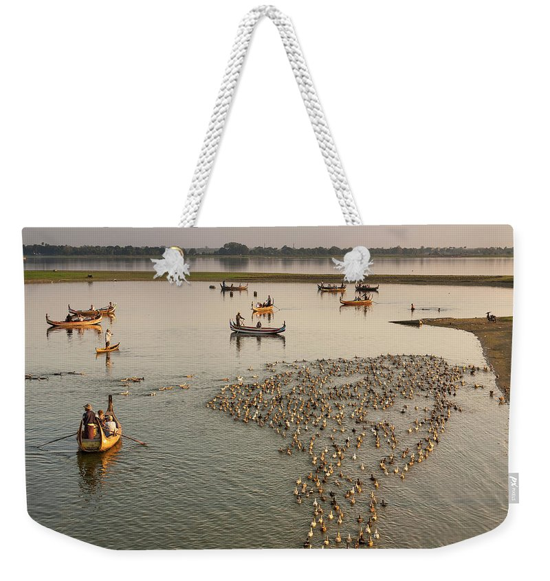 Mg3497 Weekender Tote Bag featuring the photograph Travel Images Of Burma by Mel Longhurst