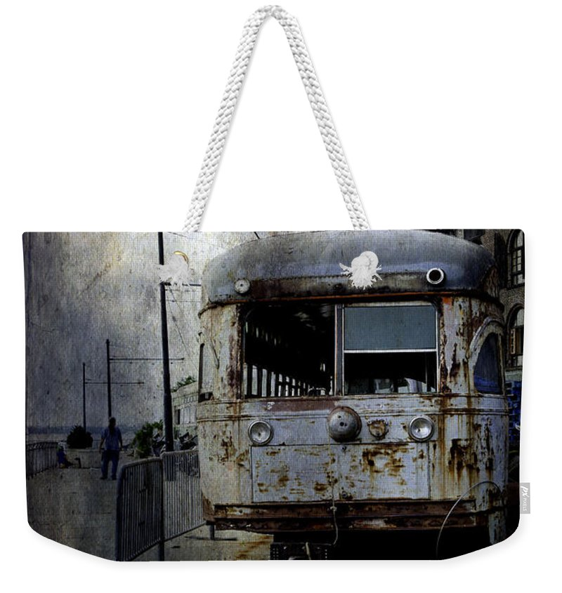 Bus Weekender Tote Bag featuring the photograph Travelling Through Time 2 by Madeline Ellis