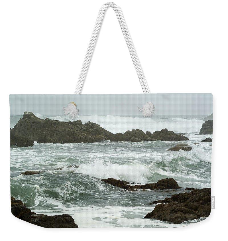 Monterey California Weekender Tote Bag featuring the photograph Treacherous by Robert Mollett