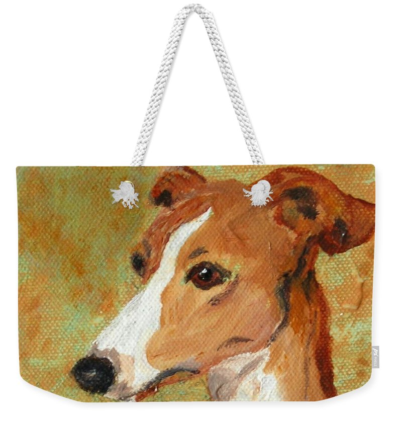 Acrylic Weekender Tote Bag featuring the painting Treasured Moments by Cori Solomon