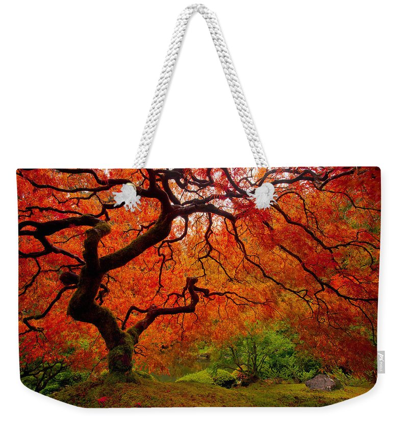Portland Weekender Tote Bag featuring the photograph Tree Fire by Darren White
