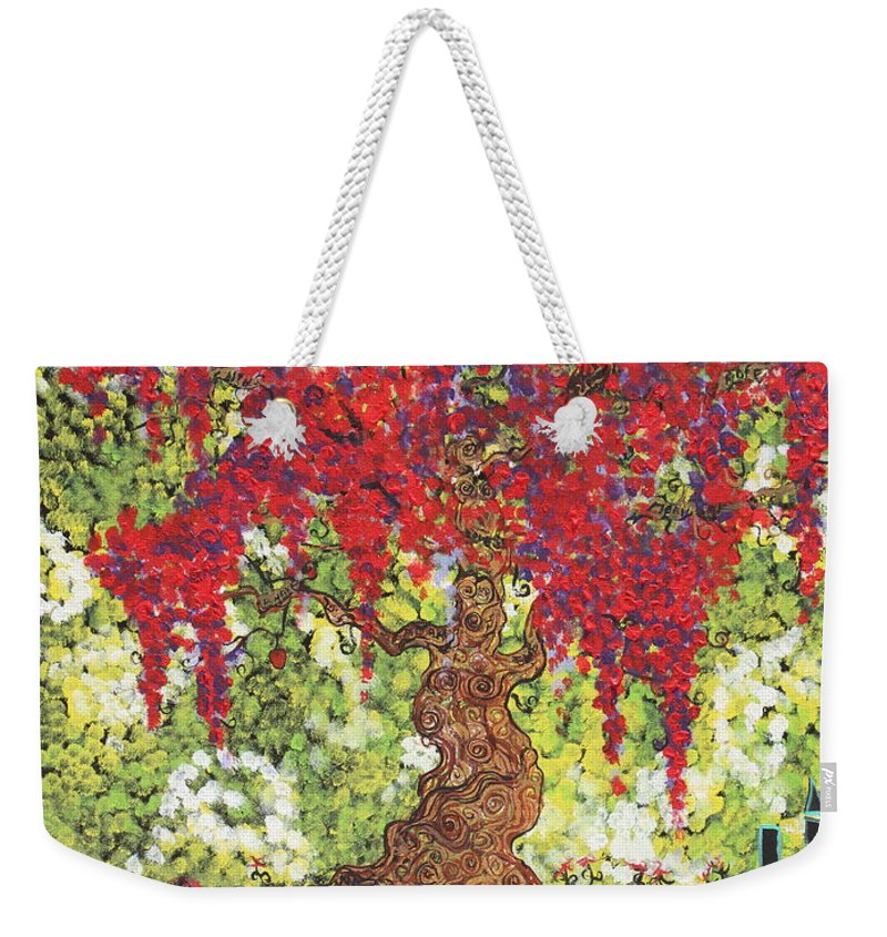 Landscape Weekender Tote Bag featuring the painting Tree Of Life by Stefan Duncan