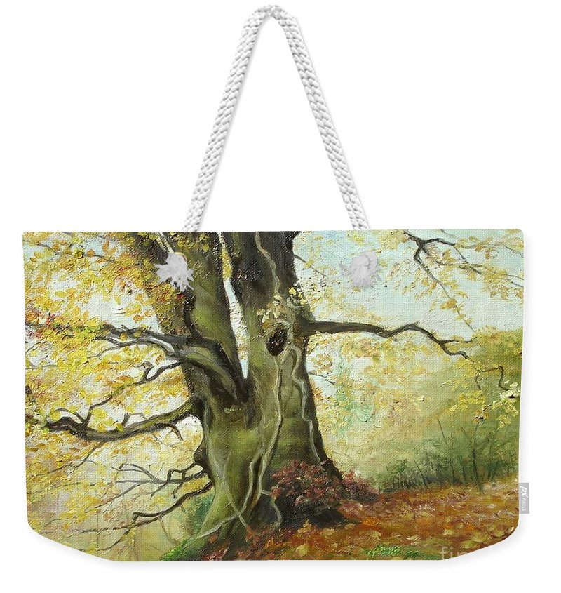 Tree Weekender Tote Bag featuring the painting Tree by Sorin Apostolescu