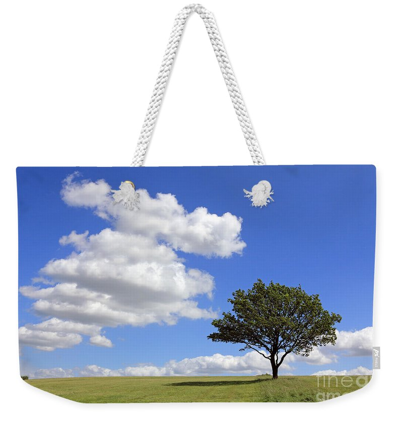 Tree With Clouds Weekender Tote Bag featuring the photograph Tree With Clouds by Julia Gavin
