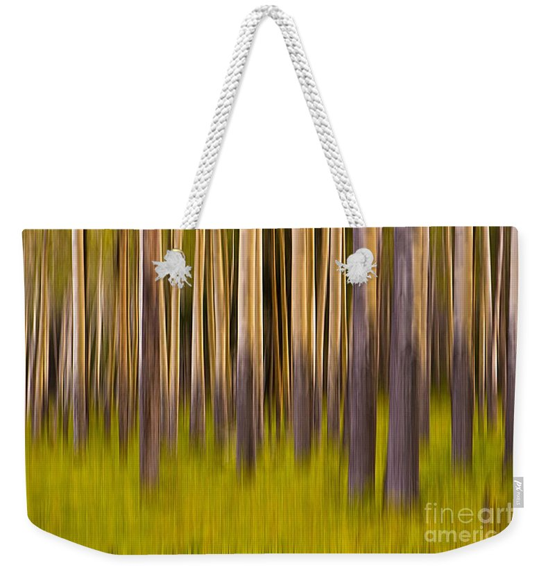 Digital Art Weekender Tote Bag featuring the digital art Trees by Jerry Fornarotto