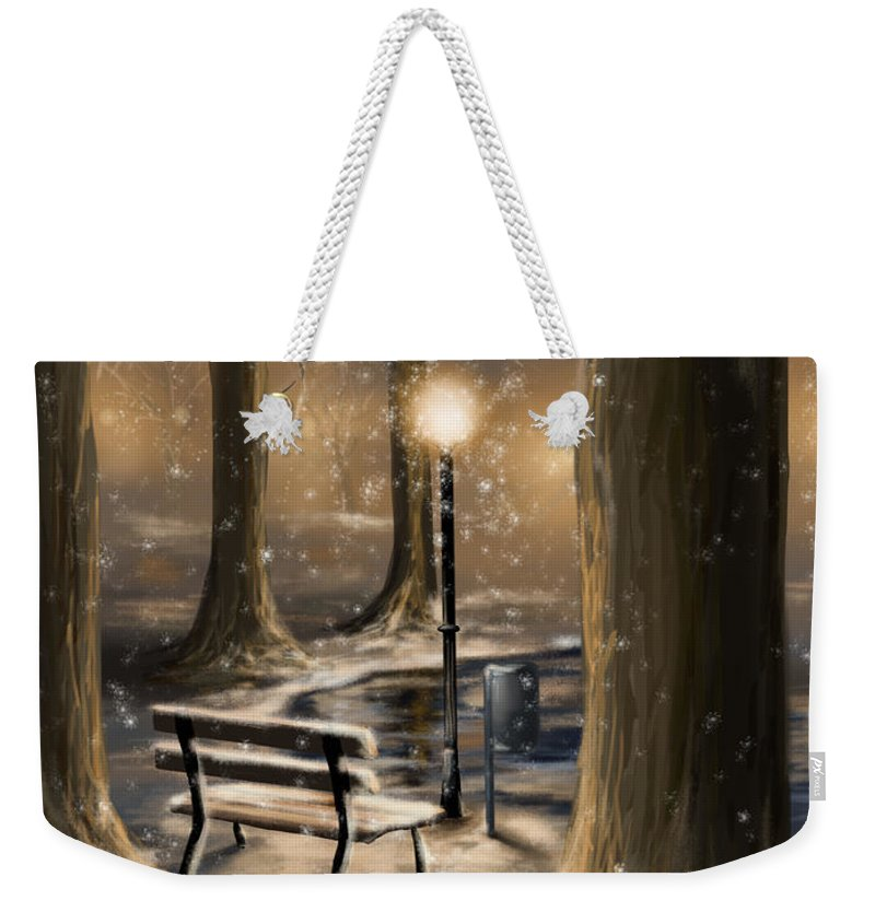 Winter Weekender Tote Bag featuring the digital art Trees by Veronica Minozzi