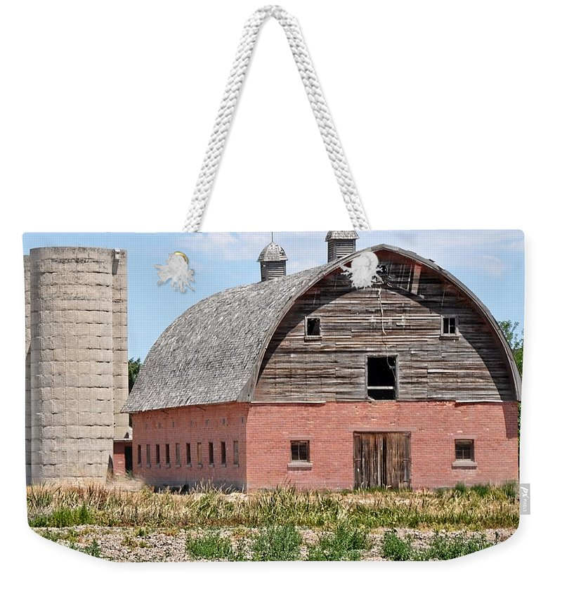 Barn Weekender Tote Bag featuring the photograph Tremonton Barn by Image Takers Photography LLC - Laura Morgan