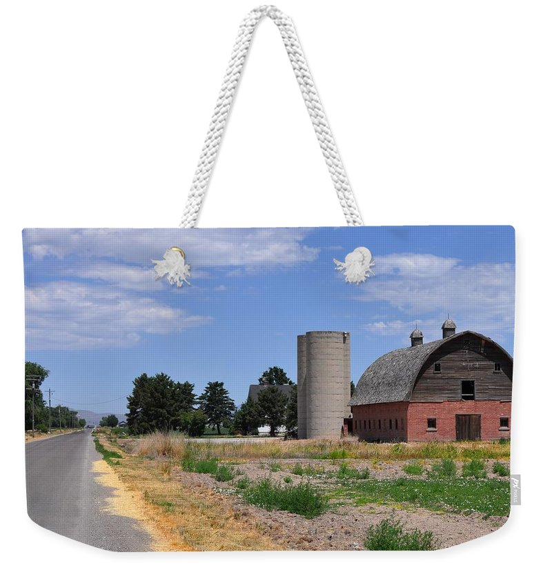 Barn Weekender Tote Bag featuring the photograph Tremonton by Image Takers Photography LLC