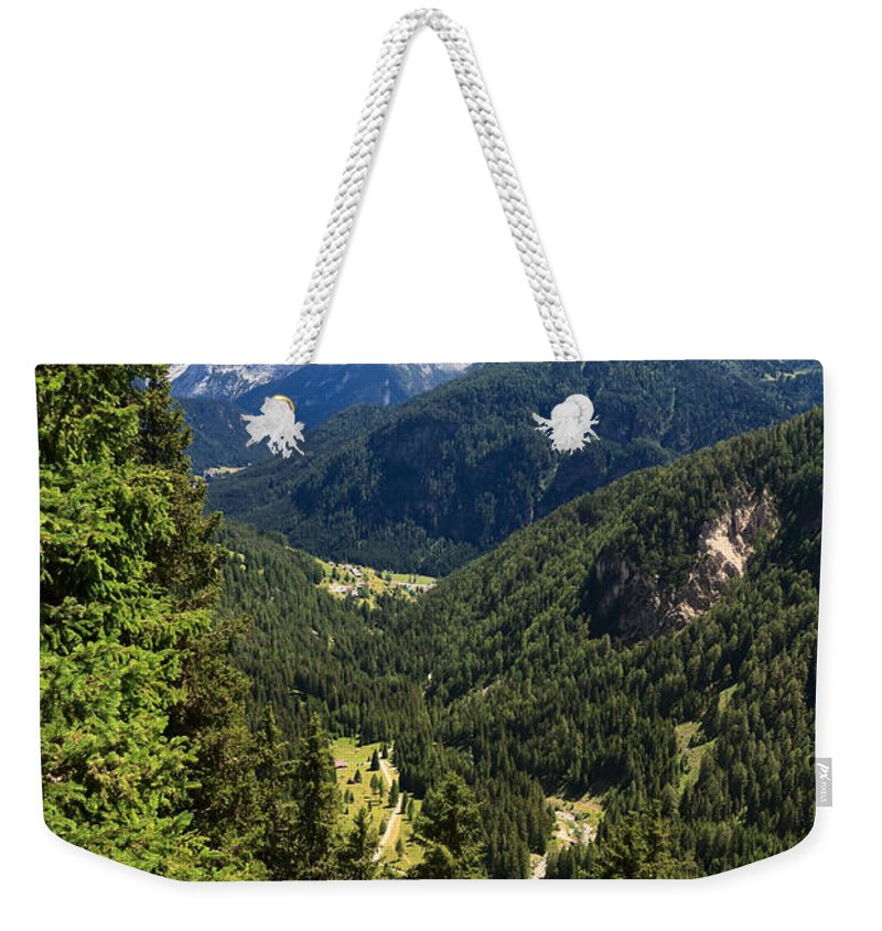 Alpine Weekender Tote Bag featuring the photograph Trentino - Val Duron by Antonio Scarpi