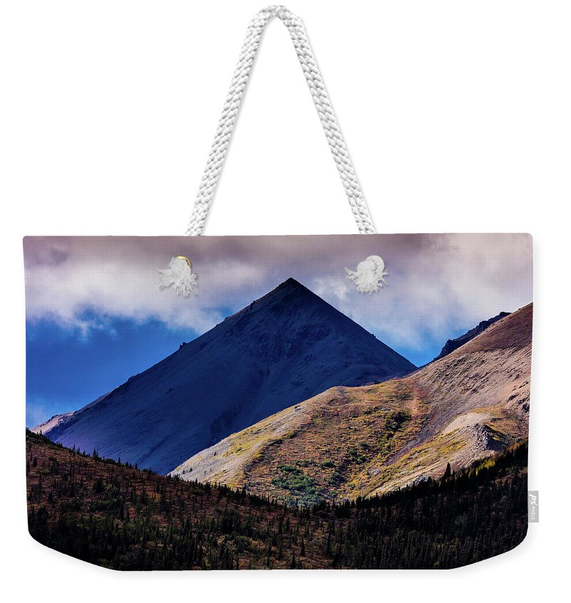 Photography Weekender Tote Bag featuring the photograph Triangular Pyramid Mountain, Denali by Panoramic Images