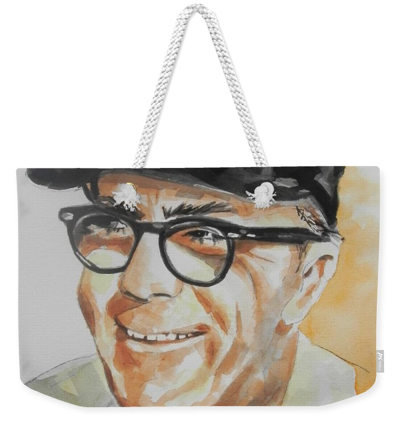 Watercolor Painting Weekender Tote Bag featuring the painting Tribute To Edward Logan My Grandfather by Chrisann Ellis