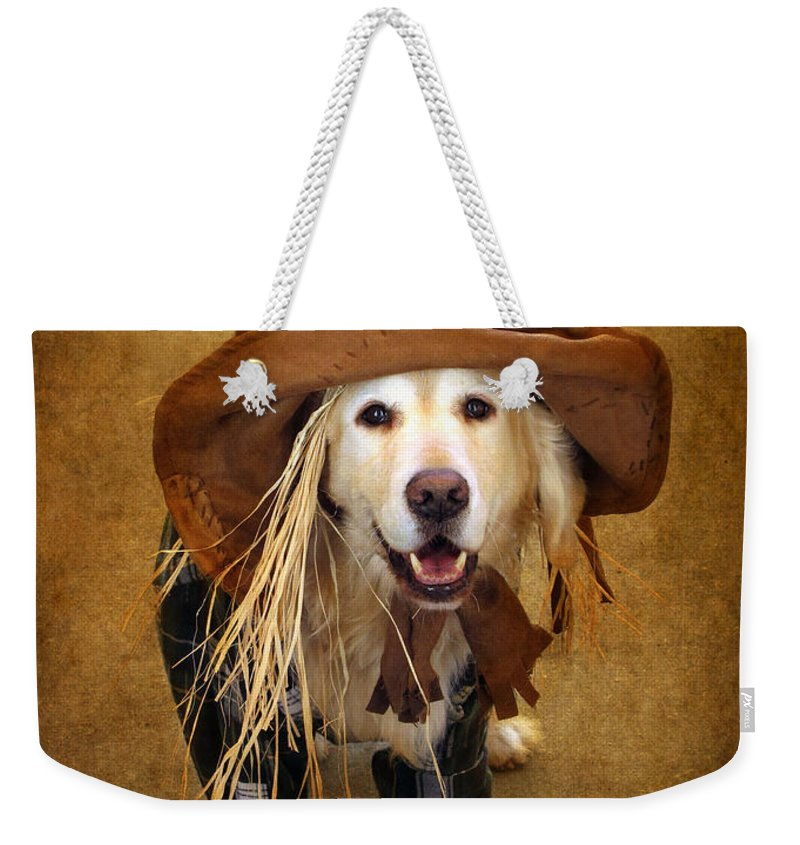 Animal Weekender Tote Bag featuring the photograph Trick Or Treat by Jessica Jenney