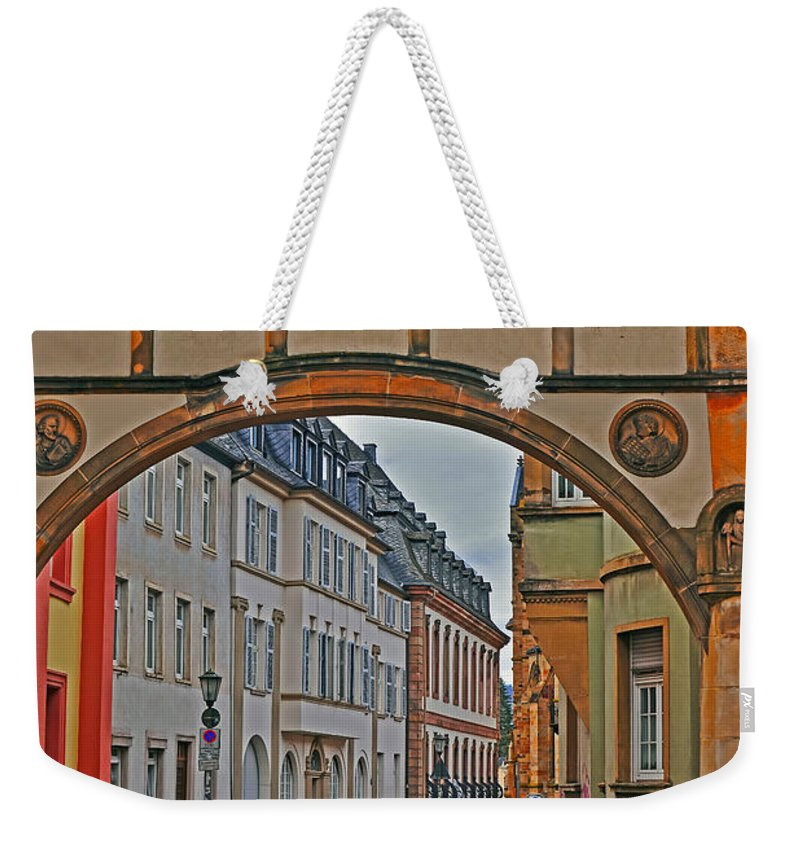 Landscape Weekender Tote Bag featuring the photograph Trier Street by Elvis Vaughn