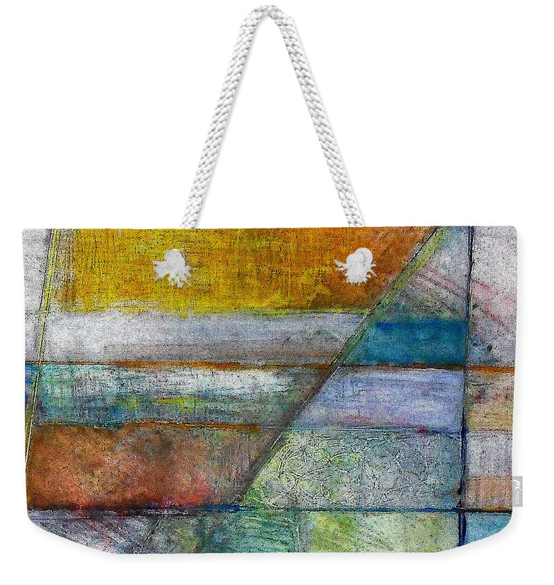 Abstract Weekender Tote Bag featuring the painting Trinity 5 by James Raynor
