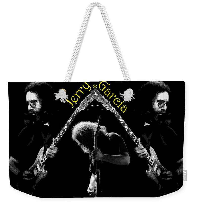 Jerry Garcia Weekender Tote Bag featuring the photograph Trinity Garcia 4 by Ben Upham