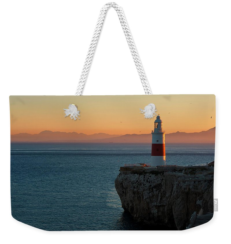 Tranquility Weekender Tote Bag featuring the photograph Trinity Lighthouse Gibraltar by © Allard Schager