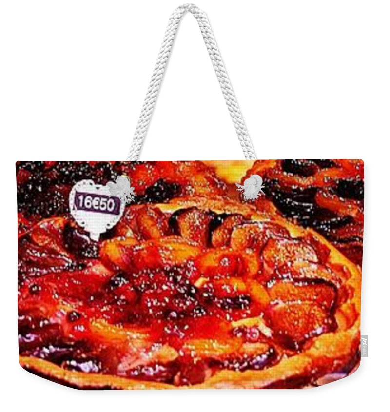 Paris Weekender Tote Bag featuring the photograph Trio Of Tarts In Montmarte by Sue Lorenz
