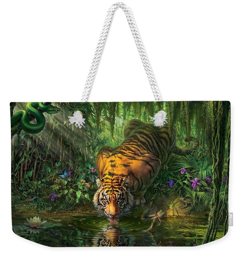 Jungle Weekender Tote Bags