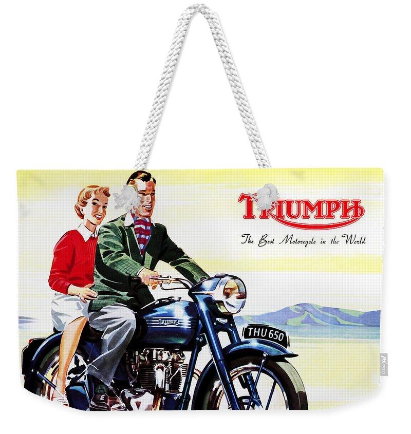 Vintage Poster Weekender Tote Bags