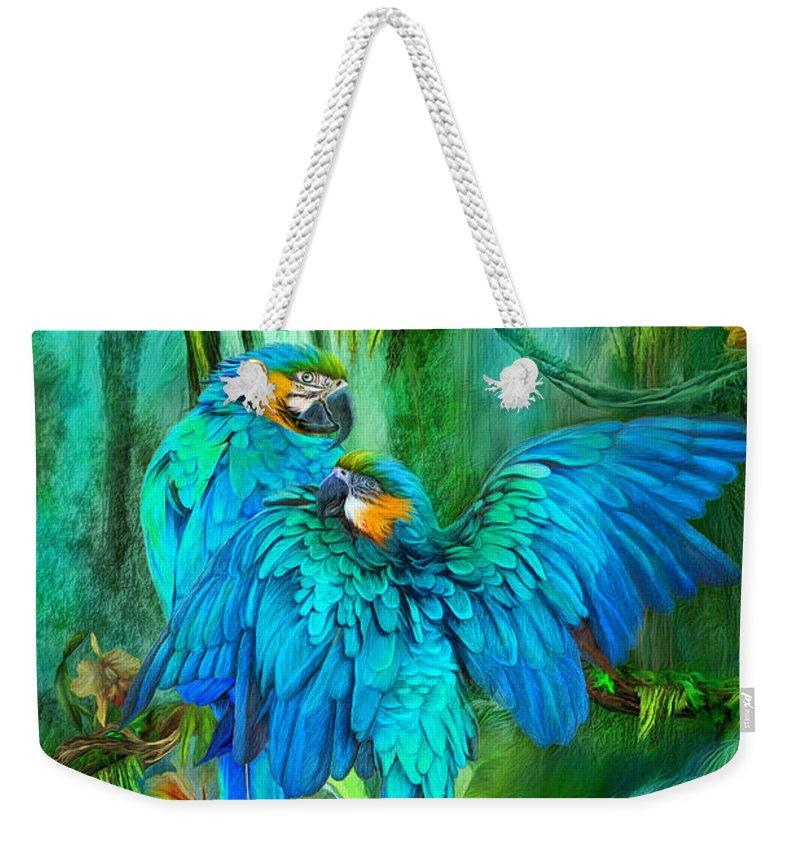 Macaw Weekender Tote Bags