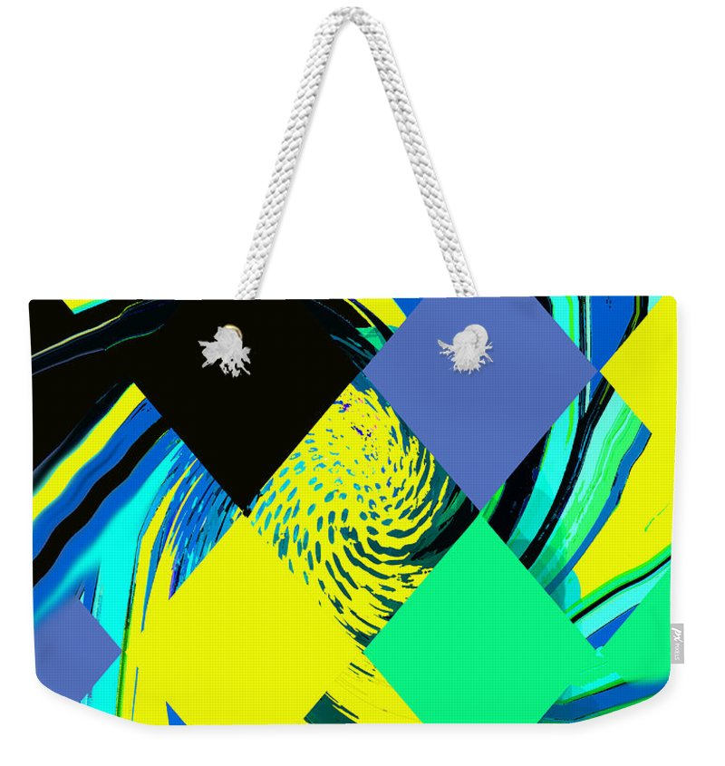 Abstract Weekender Tote Bag featuring the digital art Tropical Impressions by Ian MacDonald