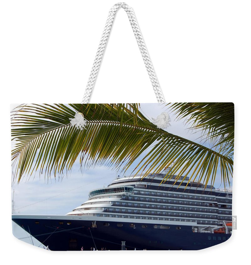 Cruise Weekender Tote Bag featuring the photograph Tropical Port by Richard Ortolano