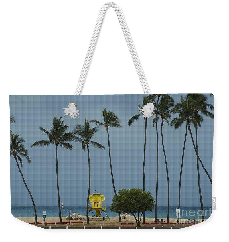 Weekender Tote Bag featuring the photograph Tropical Storm Flossie Kapukaulua Beach Paia Maui Hawaii 2013 by Sharon Mau