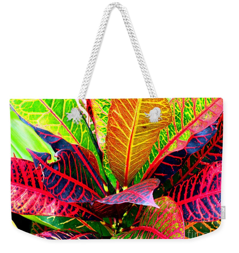 David Lawson Photography Weekender Tote Bag featuring the photograph Tropicals Gone Wild Naturally by David Lawson