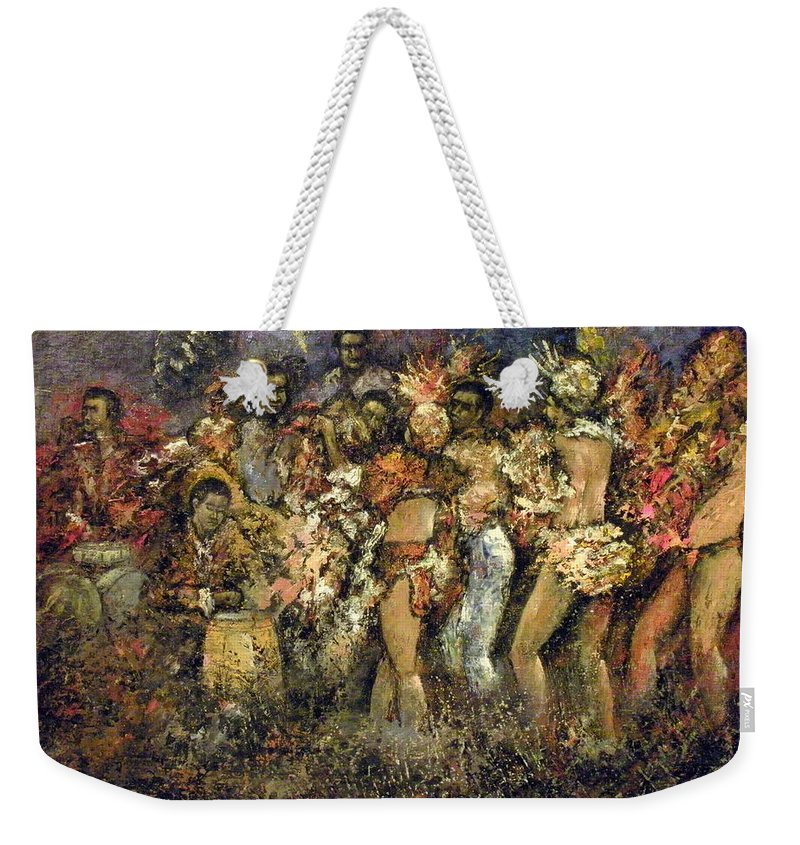 Tropicana Weekender Tote Bag featuring the painting Tropicana Havana by Tomas Castano