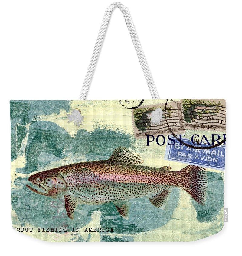 Trout Weekender Tote Bags
