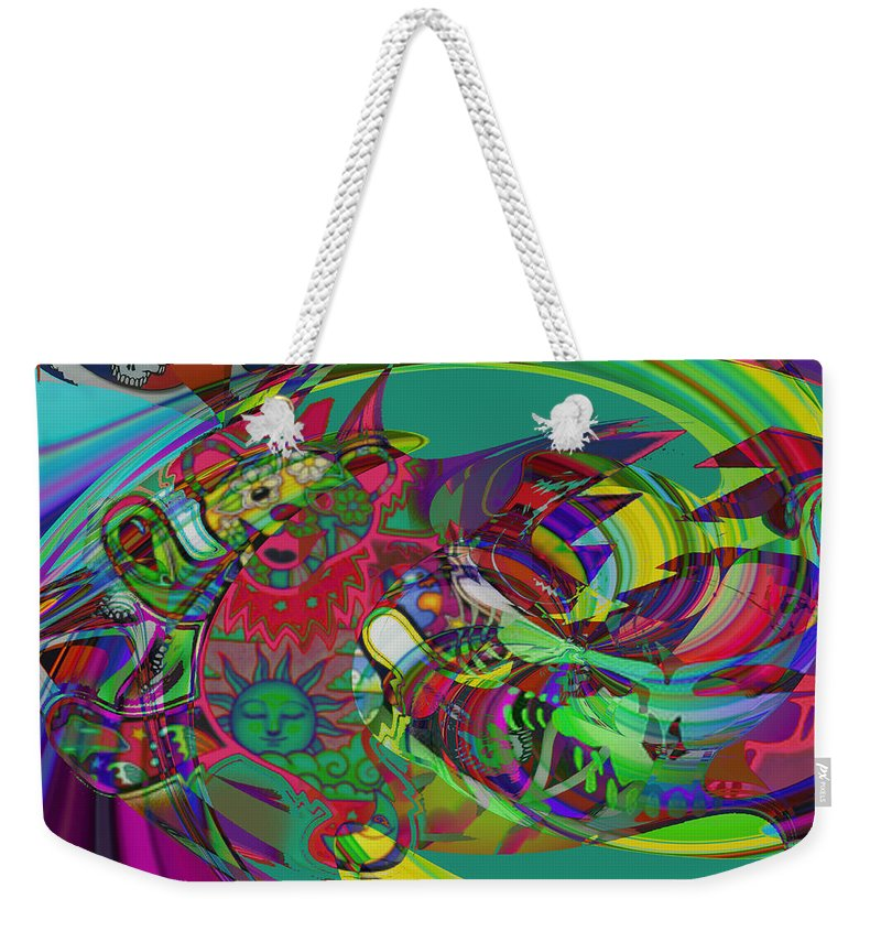 Gerry Bear Weekender Tote Bag featuring the mixed media Truck'n by Kevin Caudill