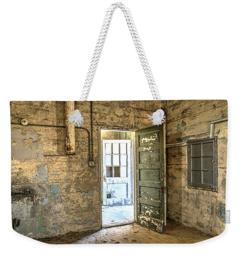 Doors Weekender Tote Bag featuring the photograph Trustee-2 by Charles Hite