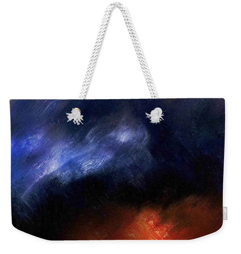 Tsunami Abstract Weekender Tote Bag featuring the digital art Tsunami Abstract by Georgiana Romanovna