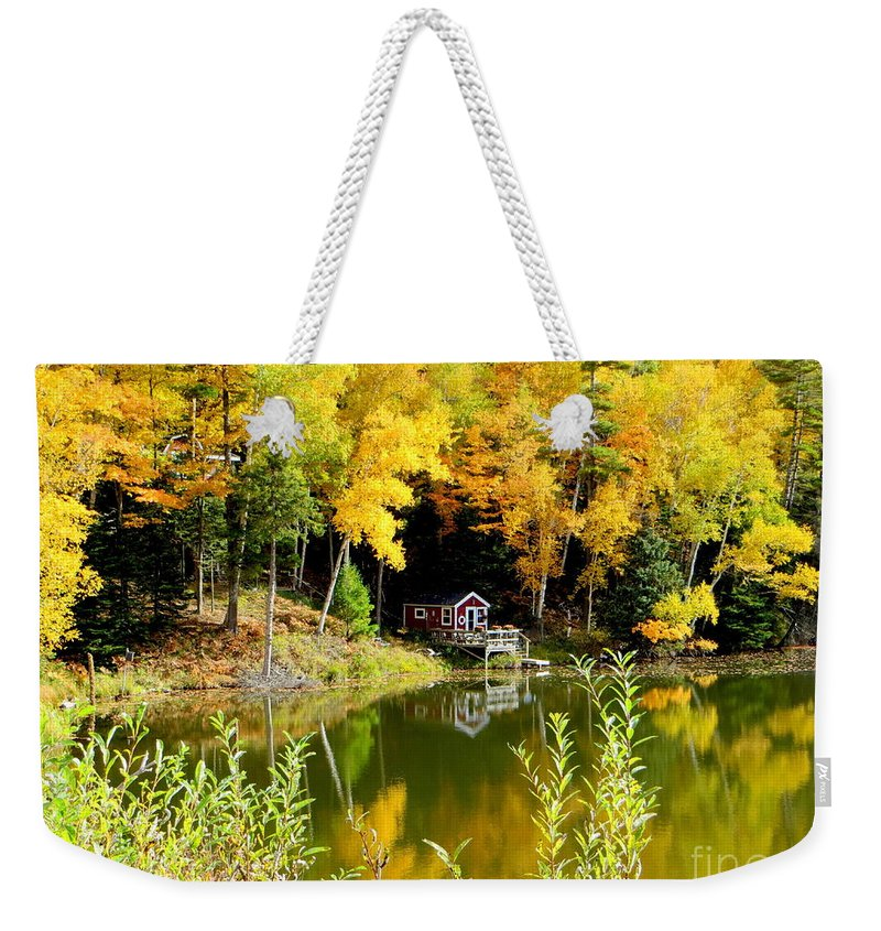 Fall Weekender Tote Bag featuring the photograph Tucked Away by Jaunine Roberts