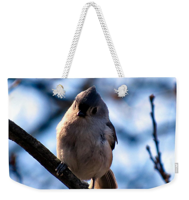 Tuft Weekender Tote Bag featuring the photograph Tuffy by Art Dingo