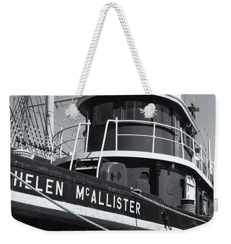 Clarence Holmes Weekender Tote Bag featuring the photograph Tugboat Helen Mcallister II by Clarence Holmes
