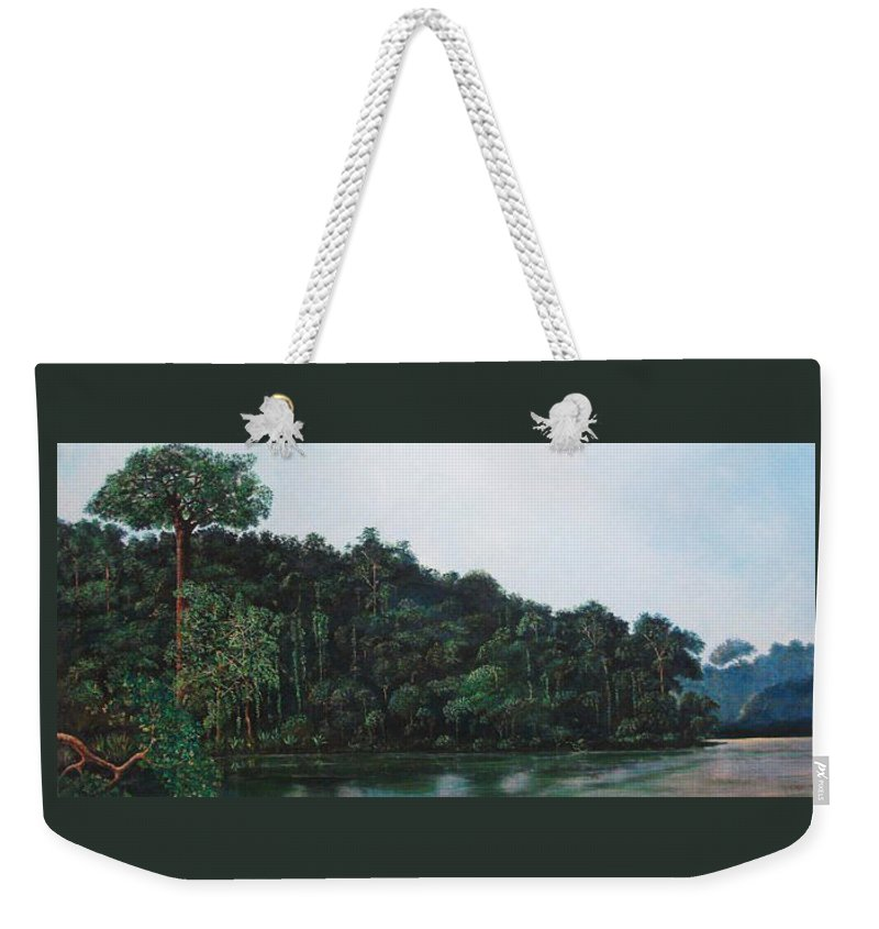 Landscape. Weekender Tote Bag featuring the painting Tuira by Ricardo Sanchez Beitia