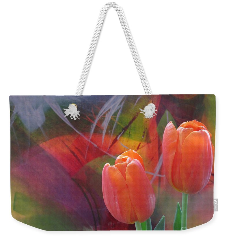 Tulip Weekender Tote Bag featuring the photograph Tulip 3 by Cecilia Swatton